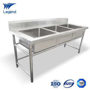 Stainless Industrial Sink Unit with Three Compartments pictures & photos