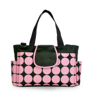 Round DOT Fashion Baby Diaper Waterproof Nappy Mommy Bag for Stroller pictures & photos
