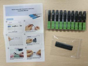 Sc/APC Single Mold Optical Fiber Fast Connector pictures & photos