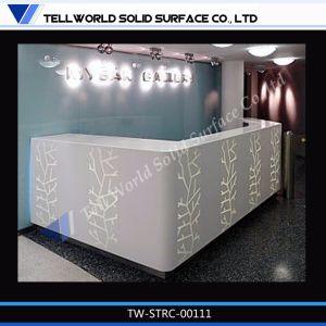 Modern Design Artificial Stone White L Shape Salon Reception Desk pictures & photos