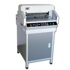 Byon Hot Sale Electric Paper Cutter Trimmer Guillotine Machine with LCD Light 4806r pictures & photos