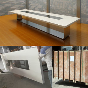 Acrylic Artificial Stone Boadroom Desk Modern Conference Room Meeting Tables Design pictures & photos