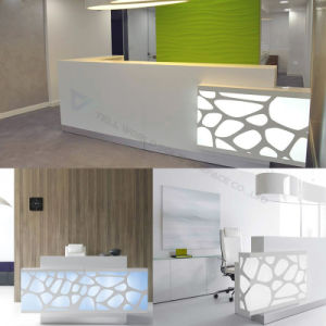 Marble Counter Tops SPA LED White Salon Reception Desk Counter pictures & photos