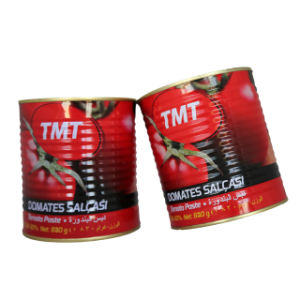 Hot Sell Double Concentrated Canned Tomato Paste 400g Tin Size pictures & photos