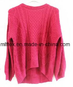 100 %Cotton Short Long Sleeve Sweater for Women pictures & photos