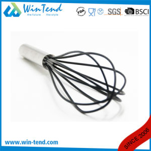 LFGB Certificate Commercial 5 Wires Kitchen French Silicone Whisk with Hook pictures & photos