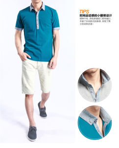 High Quality 100% Cotton Pique Mens Customized Polo T Shirts pictures & photos