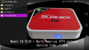 North American IPTV Package Plus Amlogic S912 Octa Core TV Box pictures & photos
