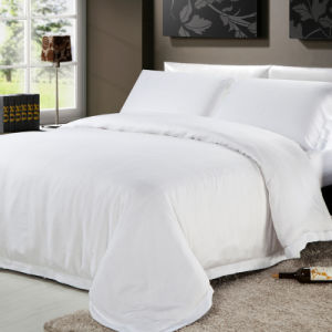 4PCS Cotton Satin Pillowcases Quilt Cover Fitted Sheet (JRD059)