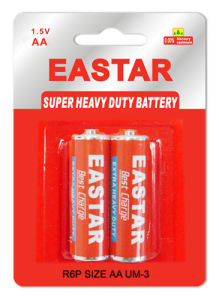 AA Dry Battery R6 Size Heavy Duty Battery pictures & photos