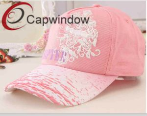 Pink Embroideryfashion Leisure Sport Lady′s Baseball Cap pictures & photos