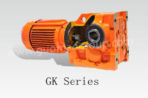 Gk Series Helical-Bevel Right Angle Shaft Reducer with Motor for Textile Industry