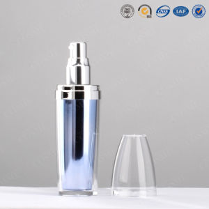 10ml 15ml, 30ml, 60ml, 100ml Round Plastic Acrylic Double Wall Cosmetic Lotion Pump Bottle pictures & photos