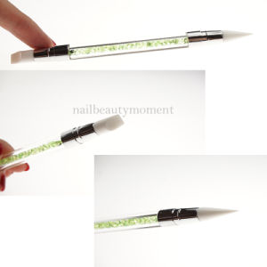 Beauty Dual Silicone Head Nail Carving Pencil Nail Brush (B046) pictures & photos