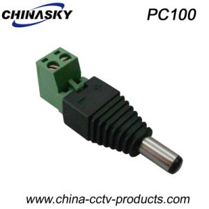 Male CCTV DC Power Connector with Screw Terminal 5.5*2.1mm (PC100) pictures & photos