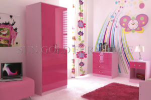Modern Red Color High Gloss Moving Bedroom Wardrobe Set (SZ-WD022) pictures & photos