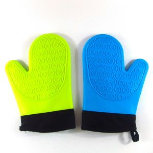 Silicone Hot Kitchen Pot Holder Glove Oven Mit (EB-93256-4) pictures & photos