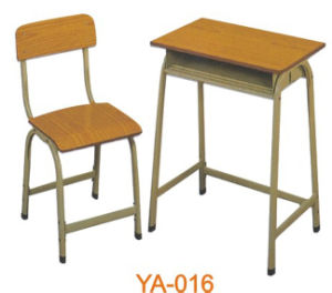 Commercial Cheap Price Wooden School Tables and Chairs Ya-016 pictures & photos