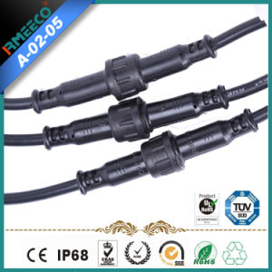 Waterproof Cable Connector Small 3pins CE Certified