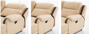 Functional Furniture Leather Sofa with Chaise pictures & photos