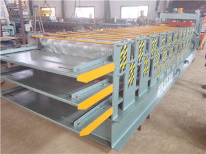 Color Steel Glazed Roof Three Layer Cold Roll Forming Machine pictures & photos