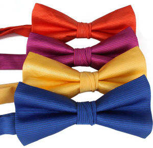 Custom Colorful Ribbon Bowknot with Safety Pin pictures & photos