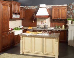 Solid Wood Kitchen Cabinet and Modern Kitchen Furniture Yb-16007 pictures & photos