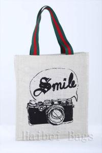 Environmental Protection Jute Handbag (hbjh-58) pictures & photos