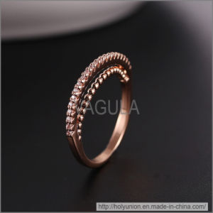 VAGULA Fashion Rose Gold Wedding Ring (Hlr14176) pictures & photos