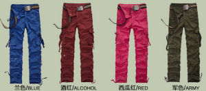 2014 Men Fashion Pocket Cargo Pants Garment Dyed pictures & photos