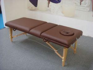 Portable Wooden Massage Table with Adjustable Backrest (MT-009-2) pictures & photos