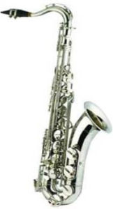 Nickel Plated Bb Key, F# Key Tenor Saxophone