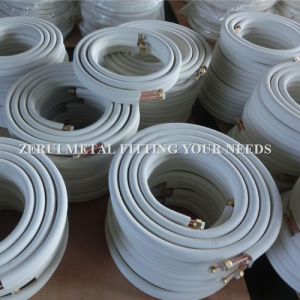 Insulated Pair Copper Coil with Corrugated Copper Pipe pictures & photos