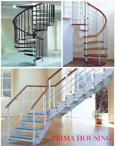 Curved Staircase Pr-C06 pictures & photos