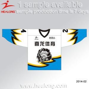 Healong Sublimation Customized Design V Neck Ice Hockey Jersey Wear pictures & photos