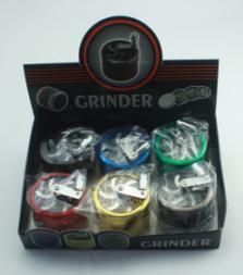 Bontek 5-Layer Metal Hand Smoke Detector Grinder Herb with Handle pictures & photos