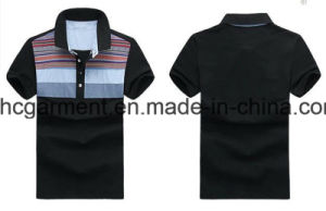 Fashion Black Cotton Short Sleeve Polo for Man, Men′s T-Shirt, pictures & photos