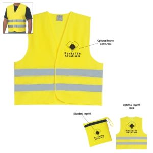 Promotional Polyester Safety Yellow Reflection Vests (RF130203