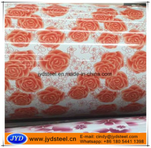 Printed PPGI with Flower Design pictures & photos