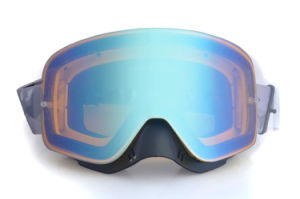 Mirrored PC Promotional Goggles for Skiing with Nose Guard pictures & photos