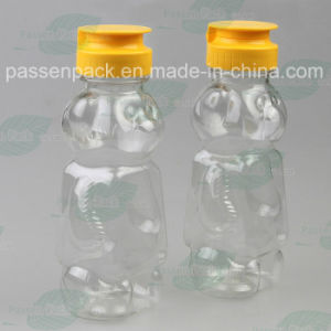 350g Bear Shape Plastic Honey Bottle with Non-Drip Silicone Valve Cap (PPC-PHB-16) pictures & photos