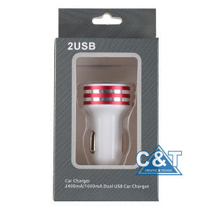 3.1A Dual USB Port Car Charger for Apple Android Devices pictures & photos