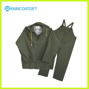 PVC/Polyester Rainsuit with Bib Pants (RPP-010A) pictures & photos