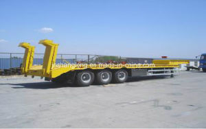 40 Ton Three Axle Low-Plate Semi-Trailer pictures & photos