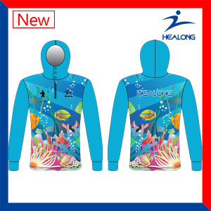 Blue Color Any Pattern Sublimation Sunscreen Fishing Jerseys Wears pictures & photos