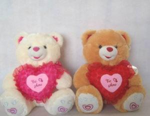 Fashional Cute Sitting Heart Teddy Bear Toys Plush Teddy Bear Toys pictures & photos