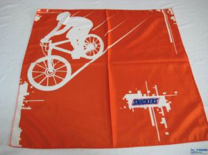 Promotional Square Orange Cheap Scarf pictures & photos