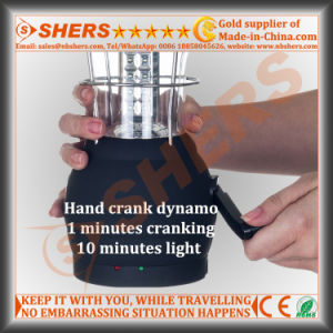 Solar 36 LED Camping Lantern Dynamo Cranking USB Outlet pictures & photos