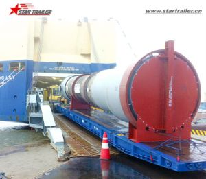 Terminal Wharf Used Roro Trailer/Mafi Trailer with Wooden Platform pictures & photos