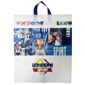 2015 Plastic Bag with Loop Handle Bag, Plastic Shopping Bag, Printed Plastic Bag, Polybags with High Quality (HF-533) pictures & photos